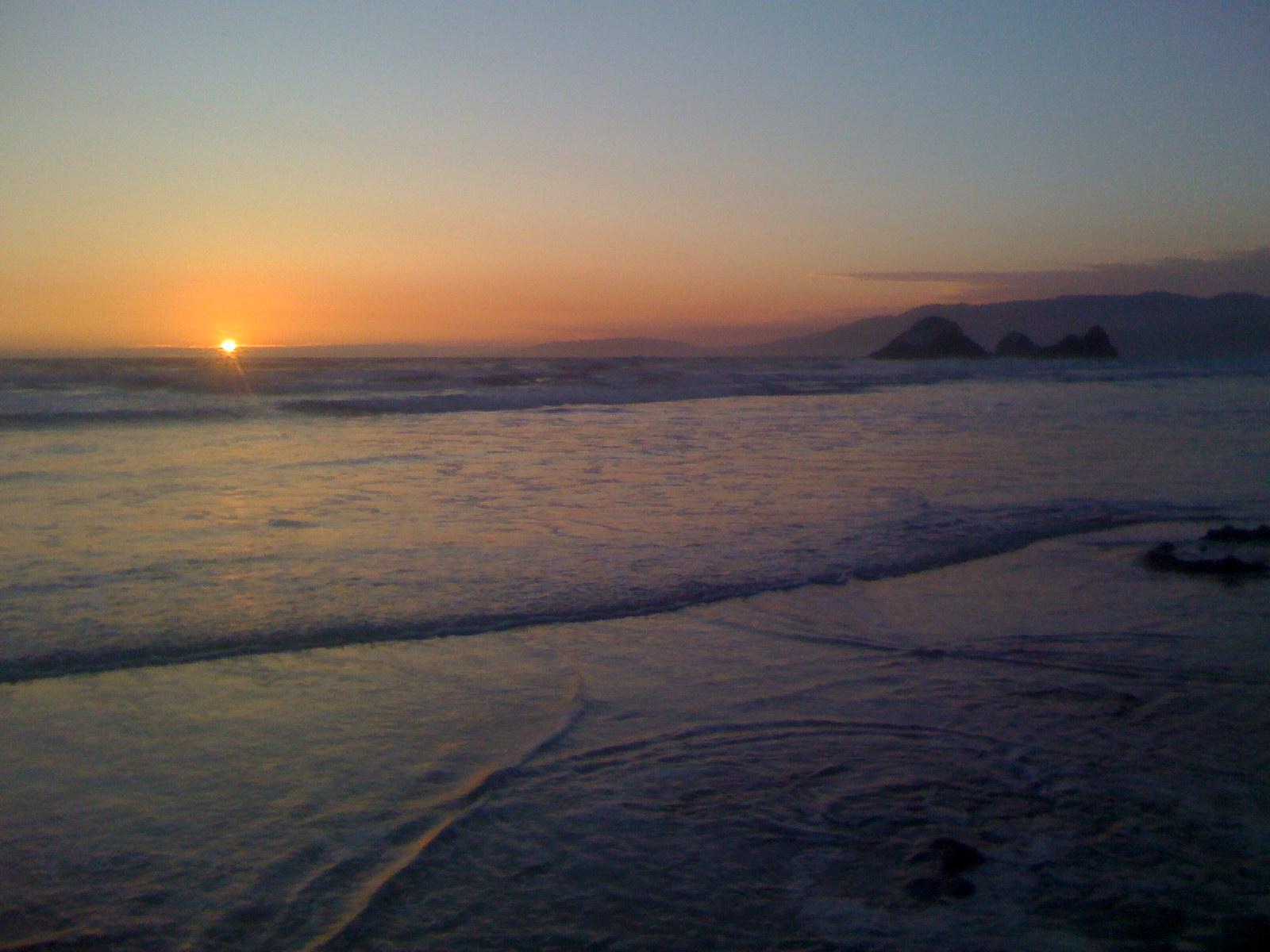 Ocean beach at San Francisco
