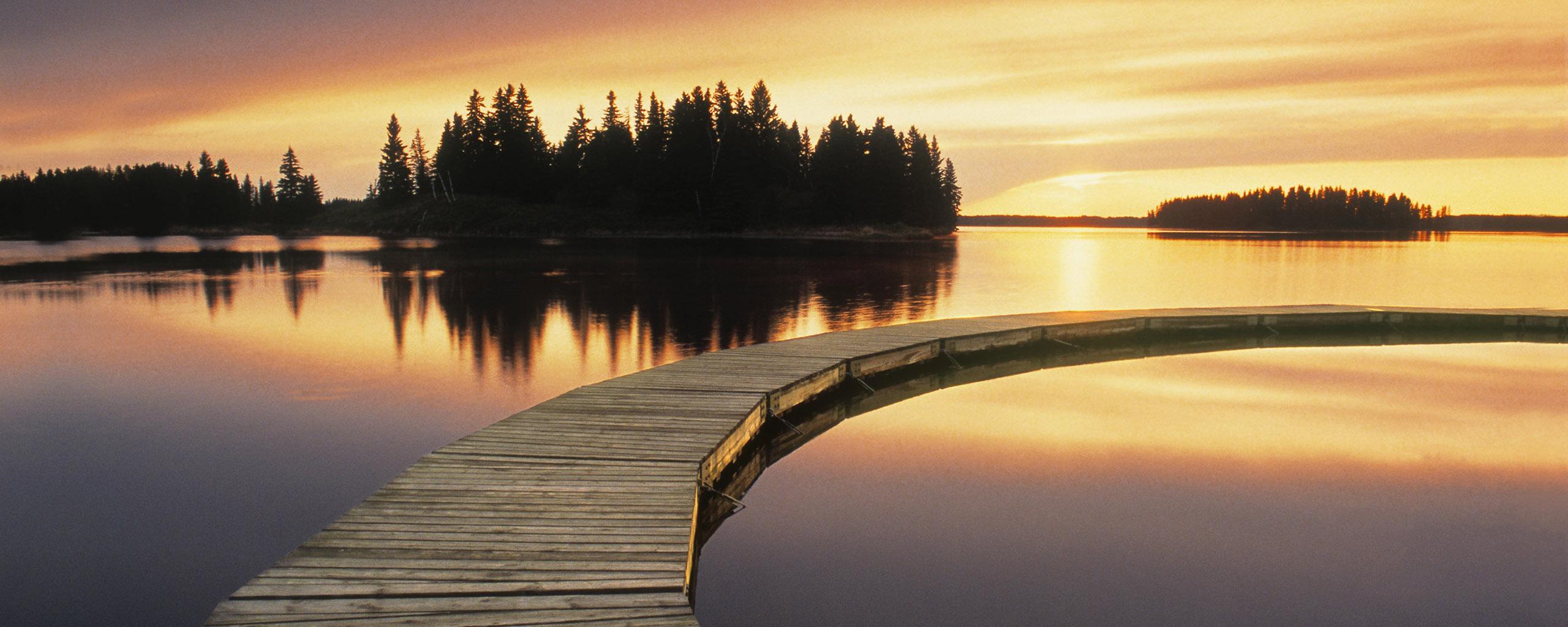 1440x900 sunset lake desktop - photo #31