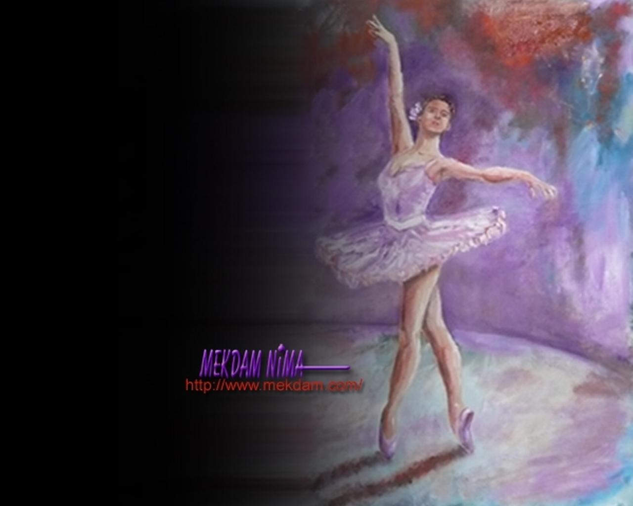 the ballerina by mekdam nima desktop wallpaper