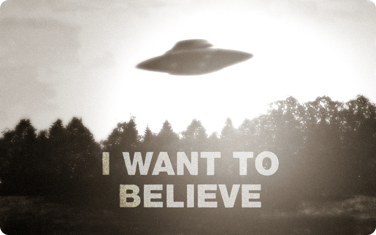 i want to believe wallpaper