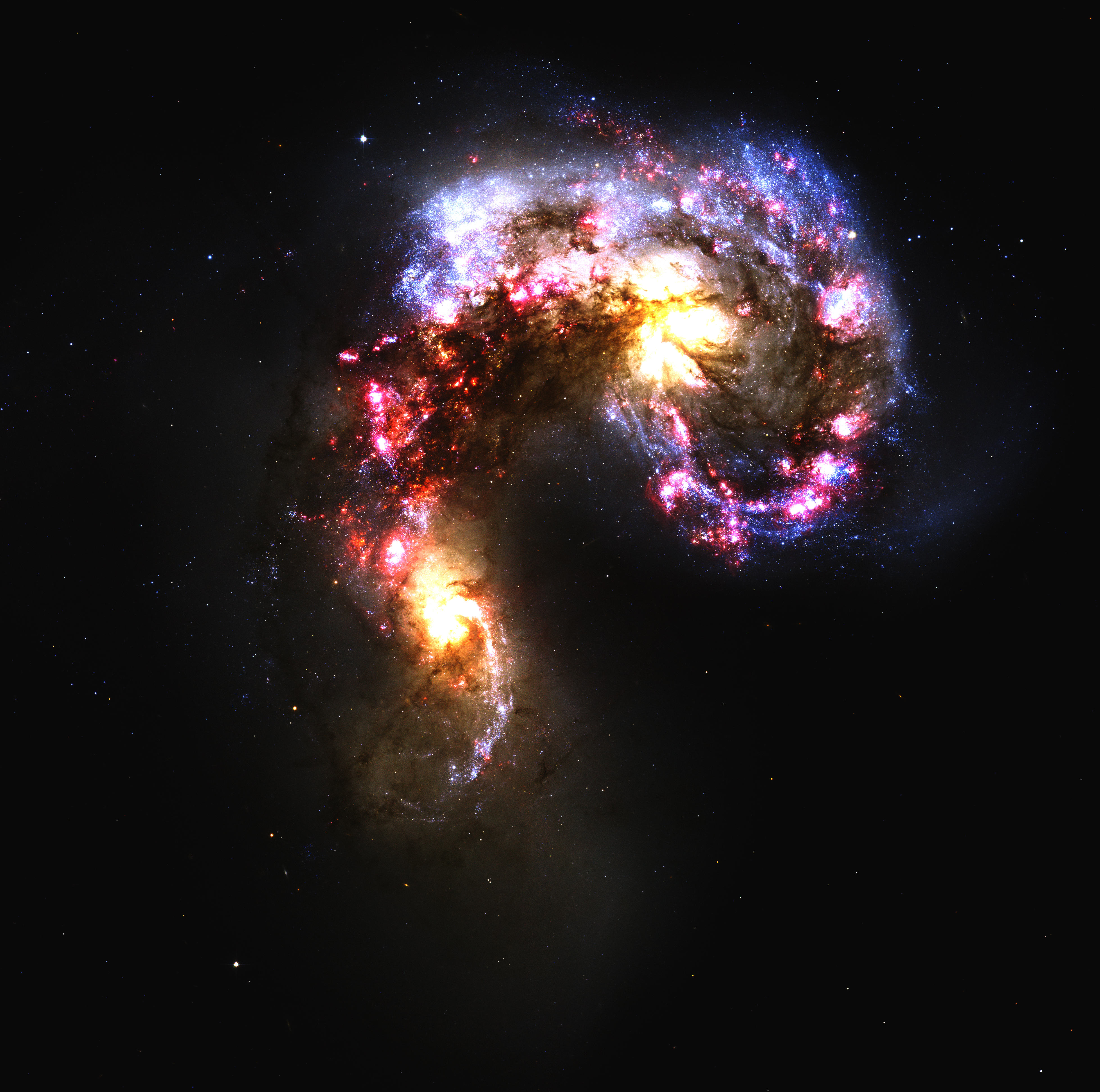 Antennae Galaxy by NASA (touch ups by hadsed) - Desktop ...