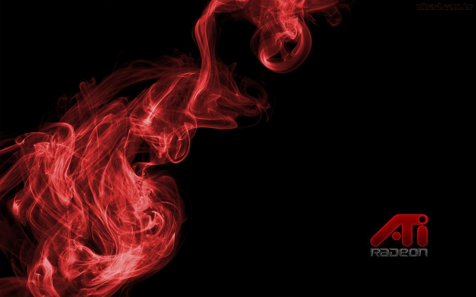 Cool Red Smoke Black Wallpaper