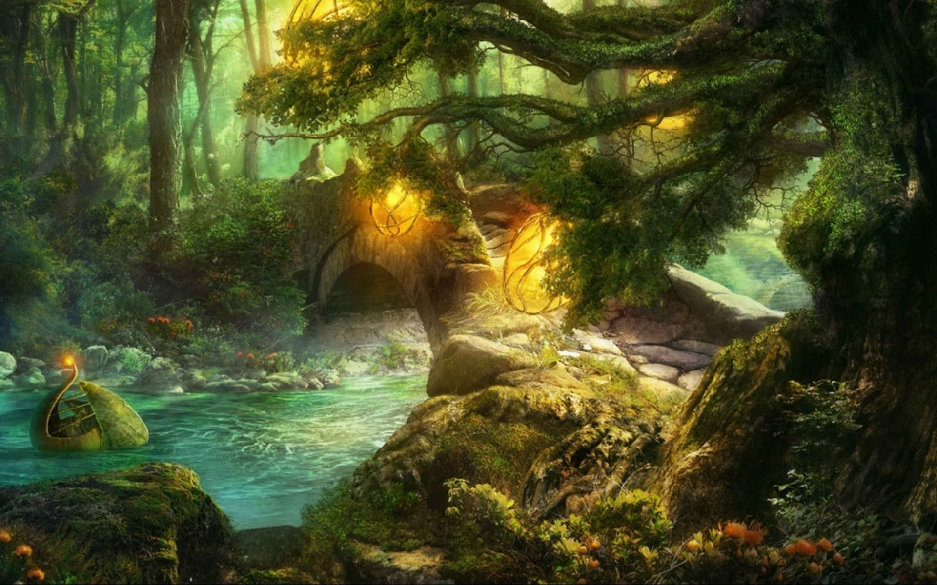 magic forest desktop wallpaper
