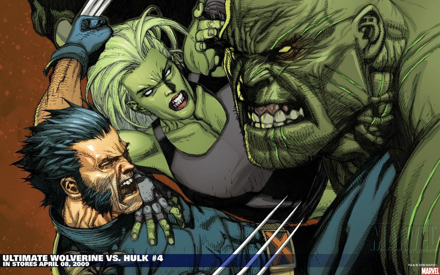 The Hulk Vs Wolverine Desktop And Mobile Wallpaper Wallippo