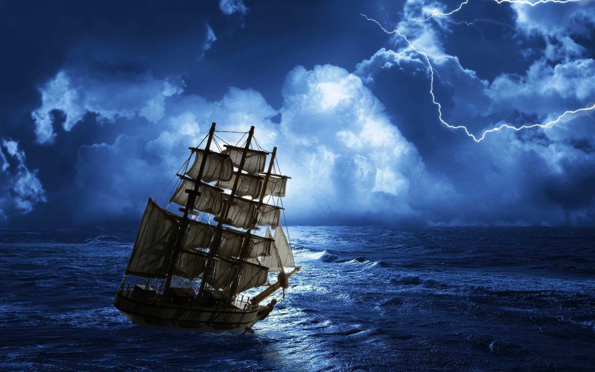 Ghost Pirate Ship Storm