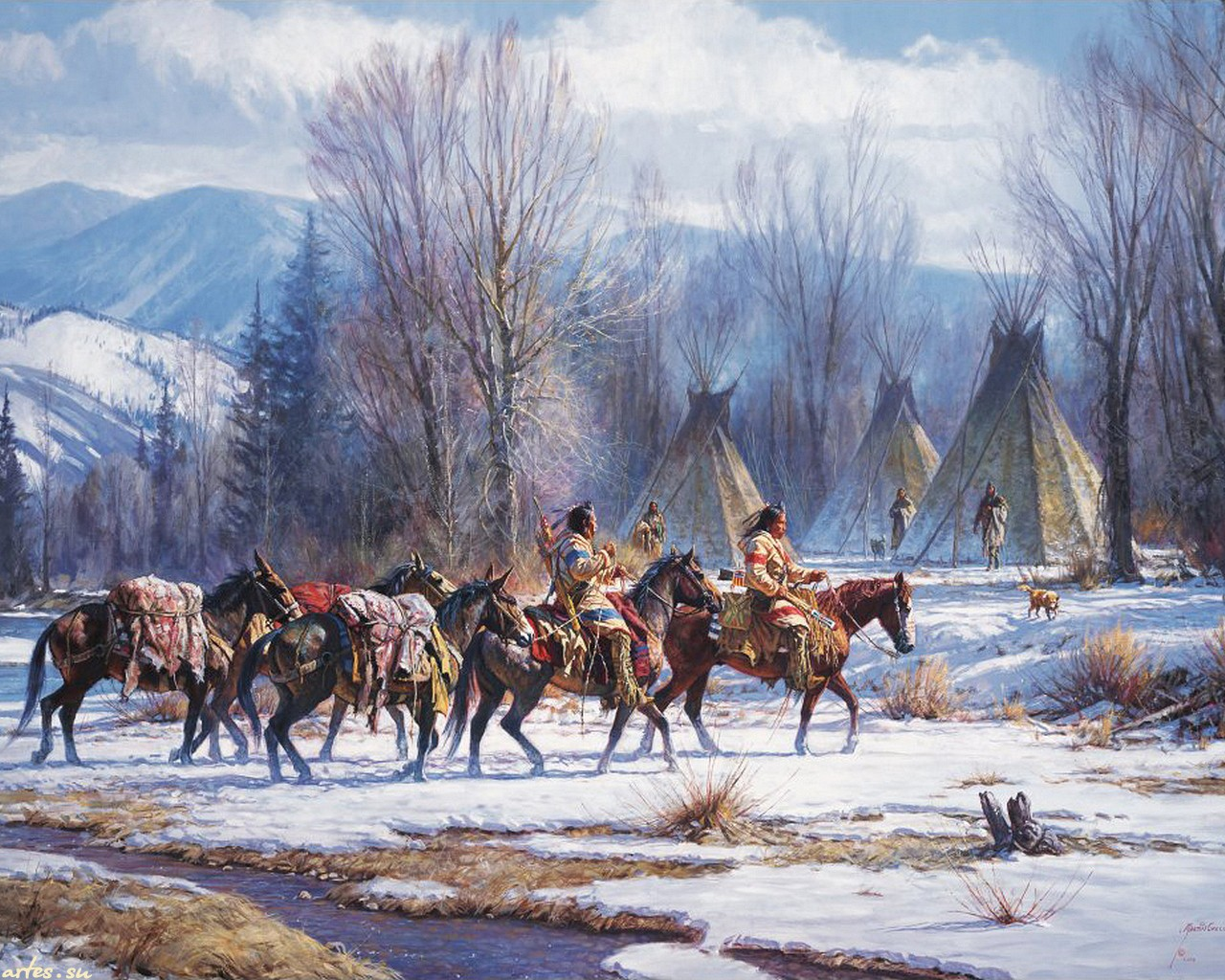 painting wallpaper western - photo #10