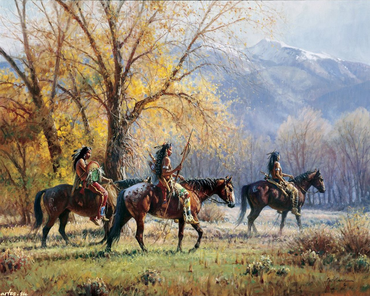 painting wallpaper western - photo #41