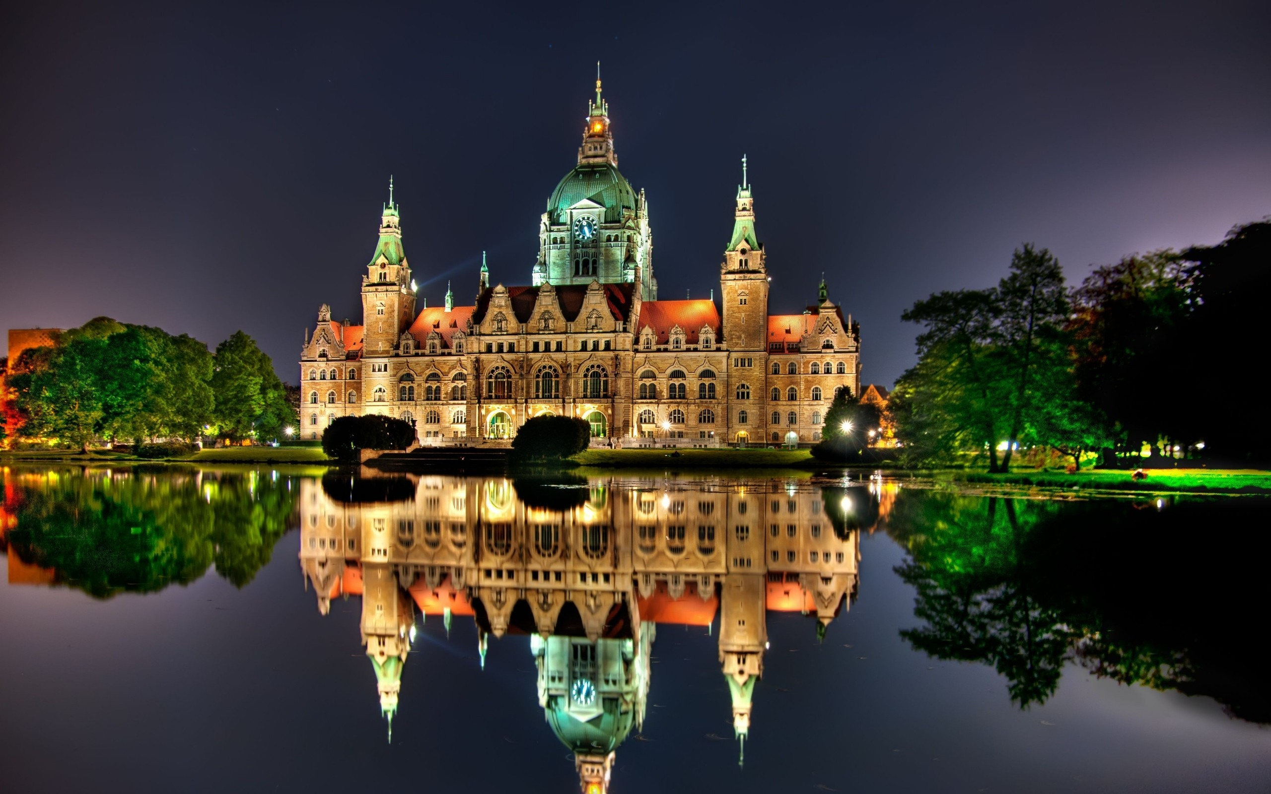 The New City Hall in Hanover, Germany