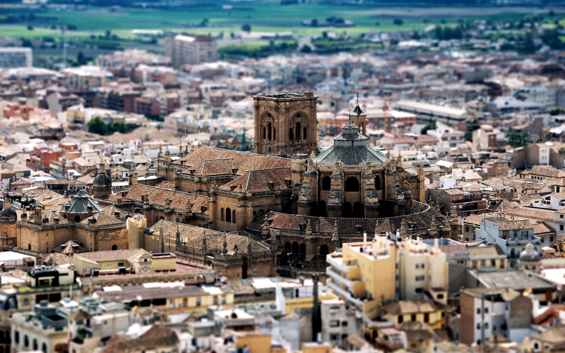 Granada Spain  City new picture : Tilt shift Cathedral, Granada, Spain by Tom Karlo Desktop Wallpaper