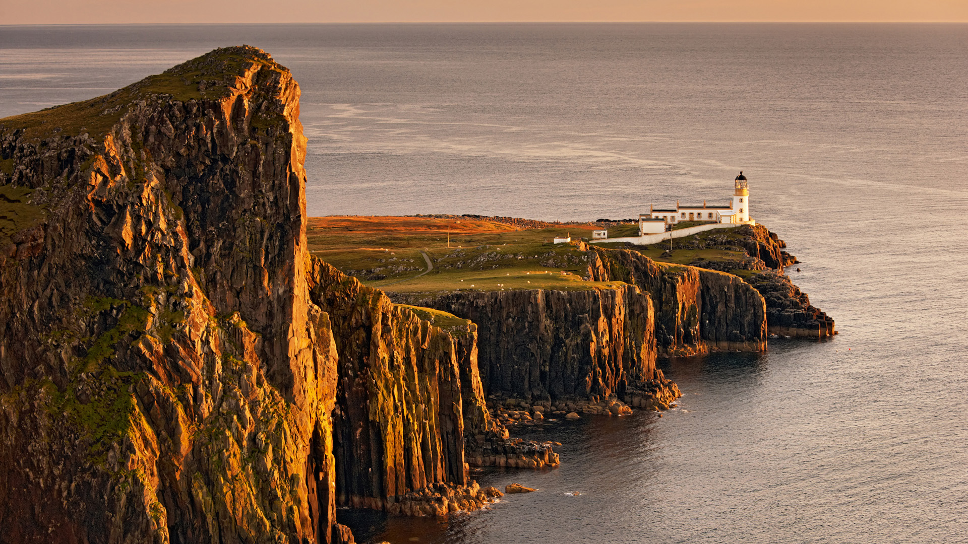 Neist Point Lighthouse Isle Of Skye Inner Hebrid By