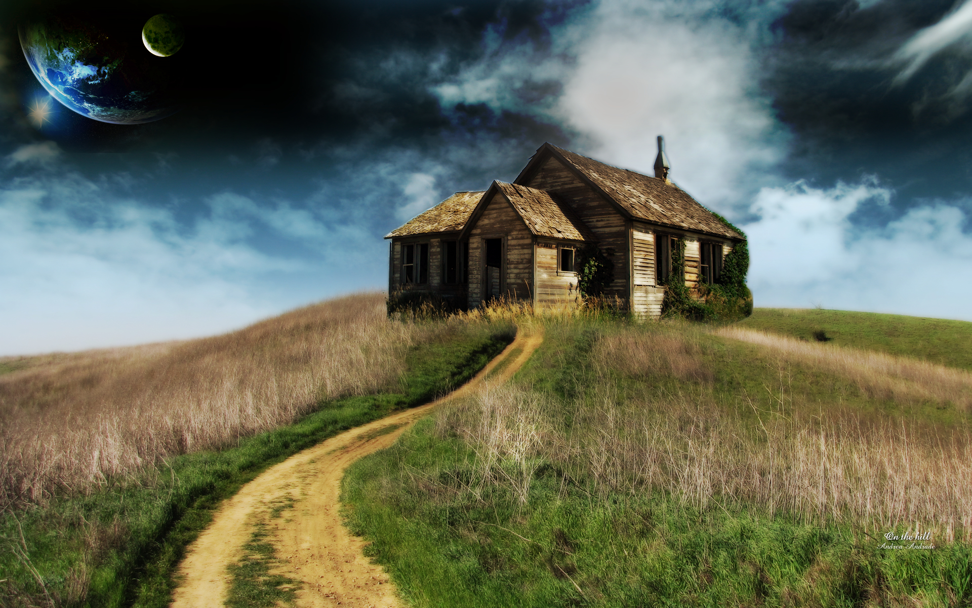 Image result for house on a hill