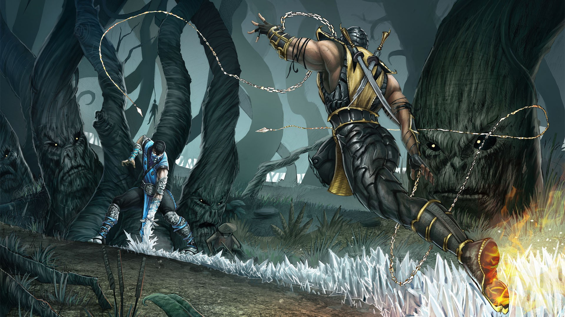 Tumblr   Post 4858836161 Mortal Kombat Scorpion Vs Sub Zero Pencils