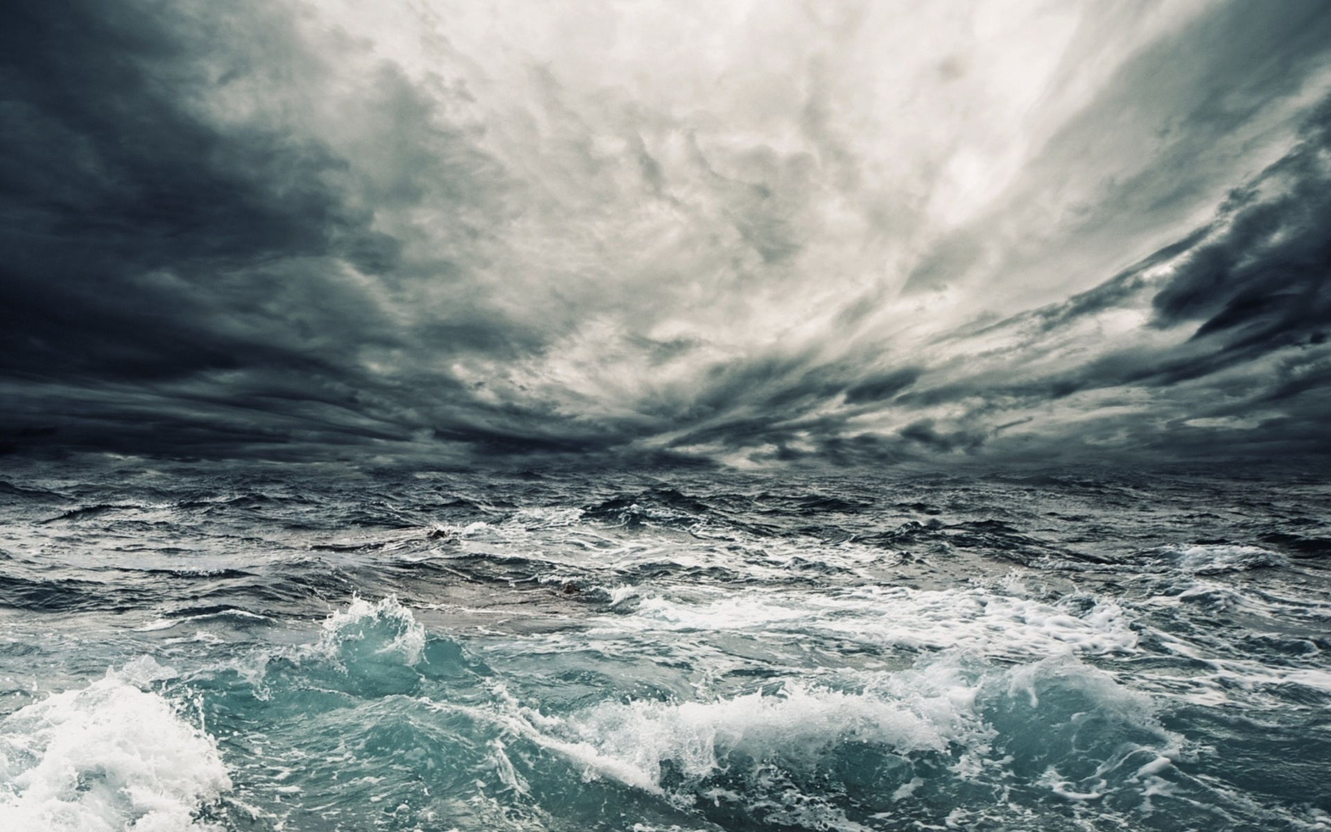 Dark stormy sea