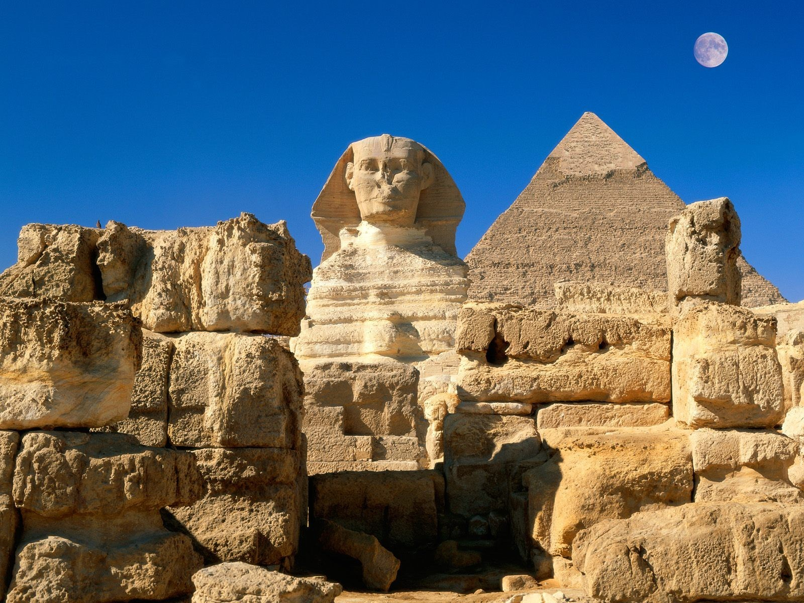 Great Pyramid and the Sphinx