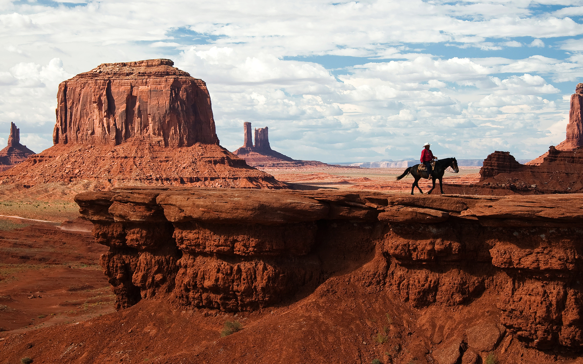 Town And Country Camper >> Wild West Monument Valley, Utah – Arizona – cowboy on his horse by Luca Galuzzi - Desktop Wallpaper