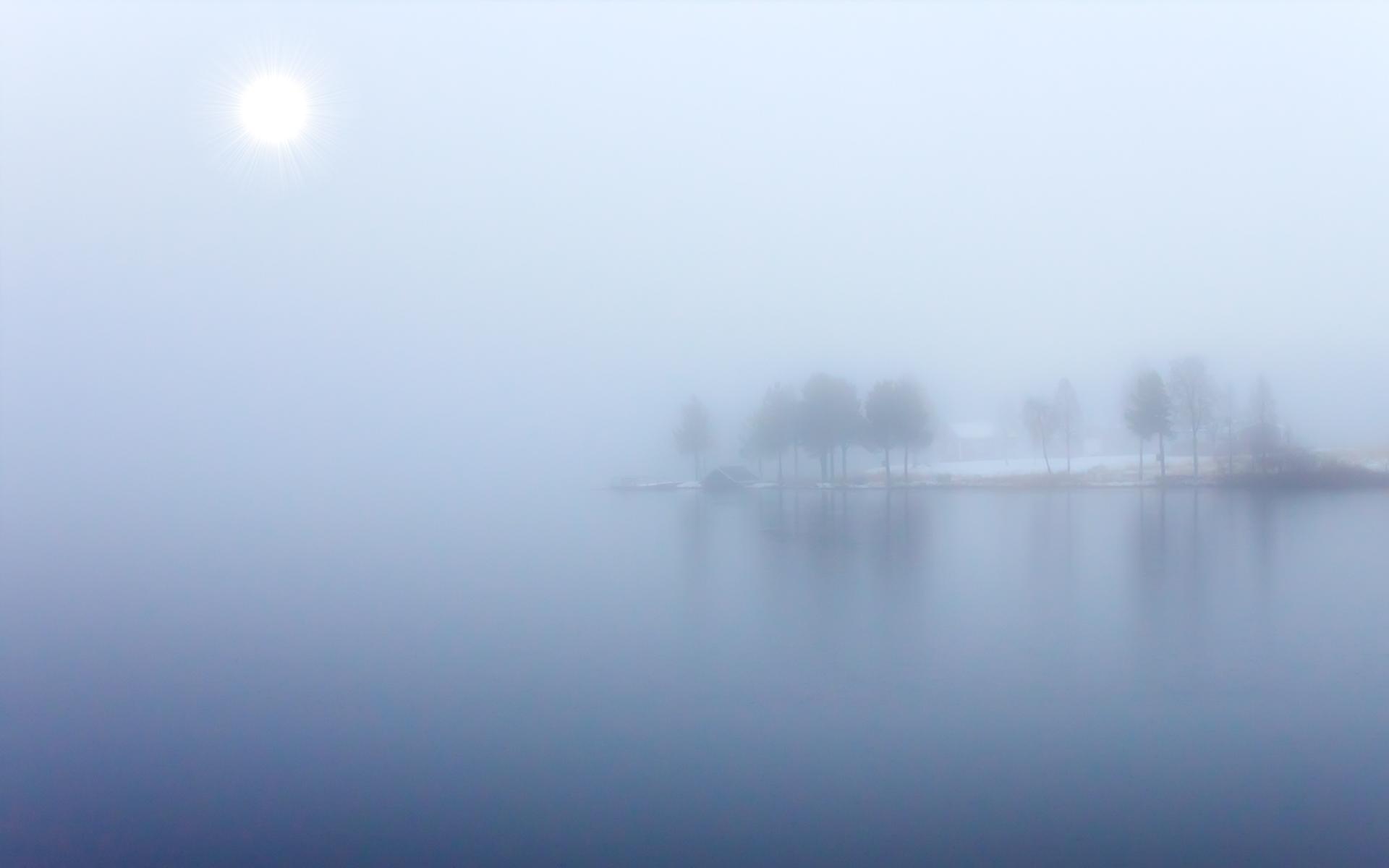 blue fog by datamakarna desktop wallpaper