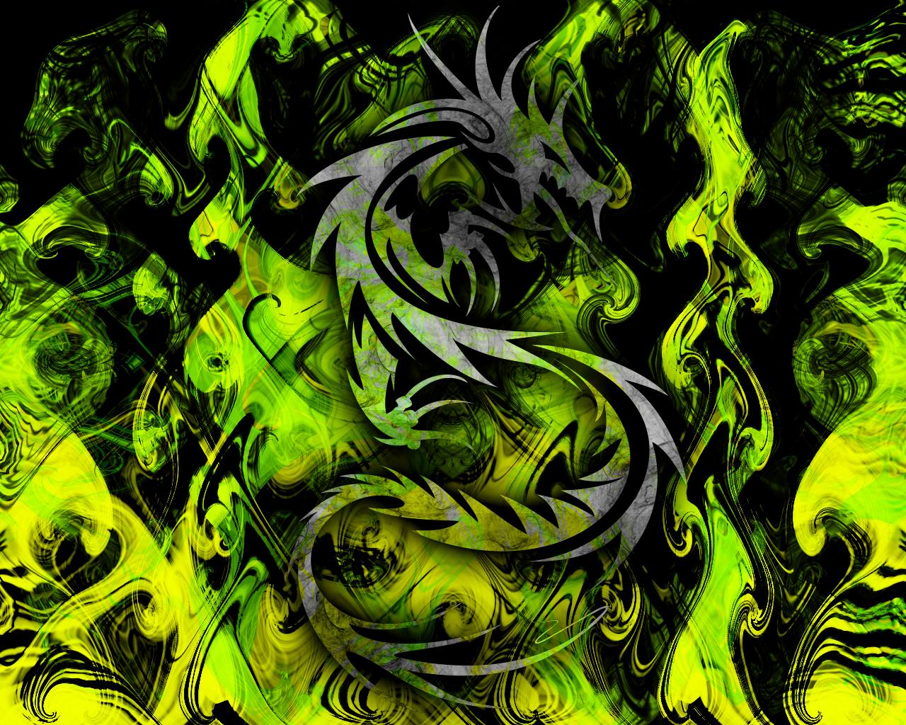 Green Dragon By Manifesto  Desktop Wallpaper