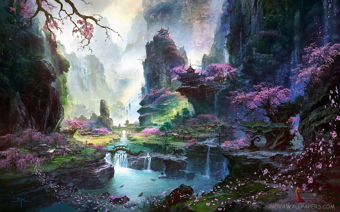 Fantasy art nature desktop wallpaper for Artiste nature