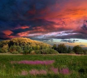 sunset by lenador desktop wallpaper